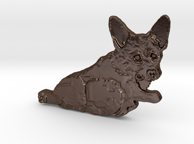 Bunny Butt Puppy in Polished Bronze Steel
