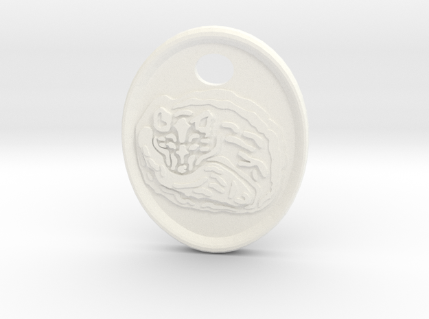 Fox Medallion in White Processed Versatile Plastic