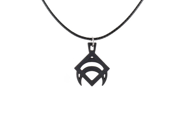 Draco Pendant in Black Natural Versatile Plastic