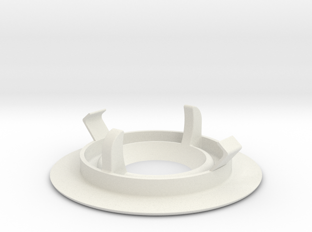Recessed ceiling mount for Fibaro Motion Sensor in White Natural Versatile Plastic