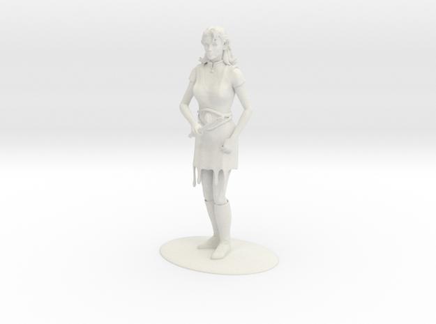 Elven Magic-User Miniature in White Natural Versatile Plastic: 1:55