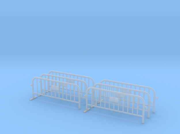 6x PACK 1:50 Small construction fence (One feet) in Frosted Ultra Detail