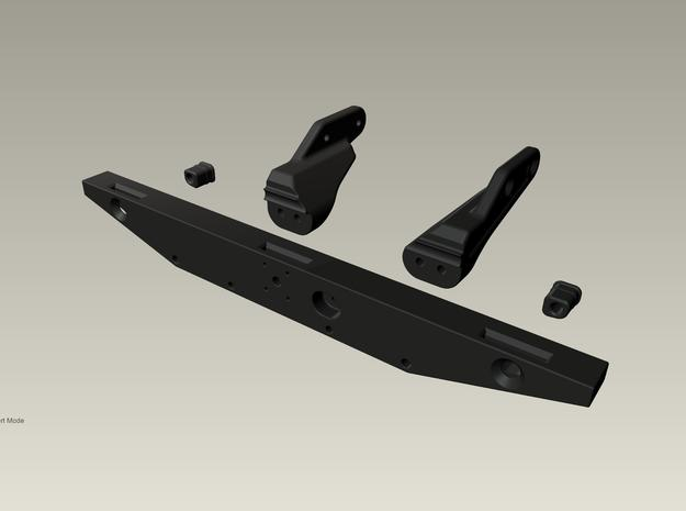Raffee Land Rover Rear Body Mount (SCX10) in Black Natural Versatile Plastic