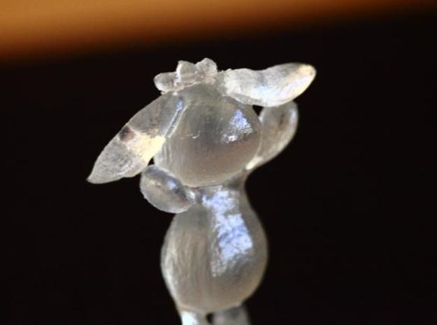 Bunny2 3d printed Transparent detail material - The front side looks matte but the back is glossy.