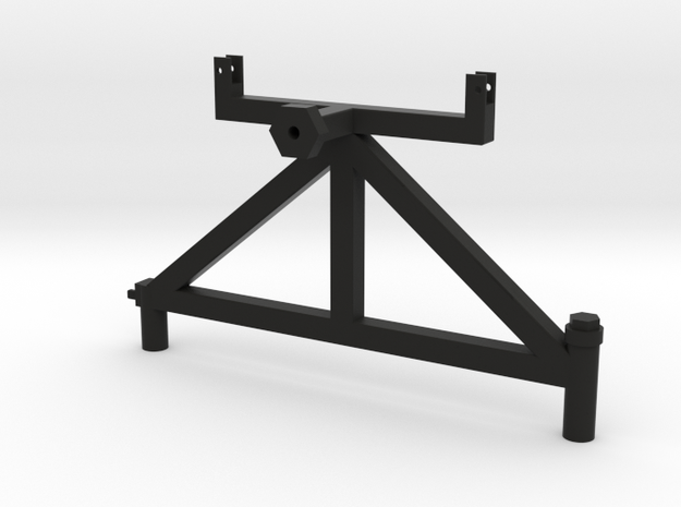 XJ Tire Carrier with Hi-Lift Mount in Black Natural Versatile Plastic