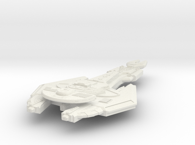 Cardassian Axe Class FastDestroyer in White Strong & Flexible