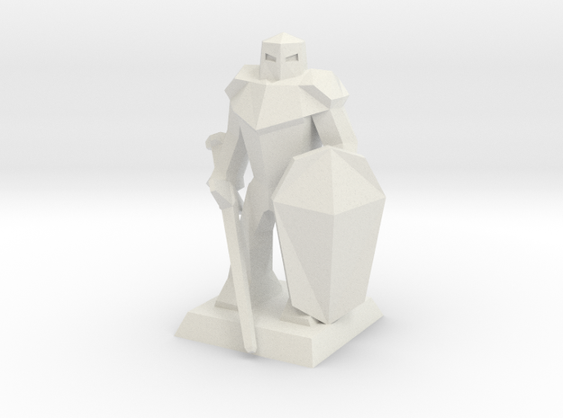 Knight Low-Poly in White Strong & Flexible