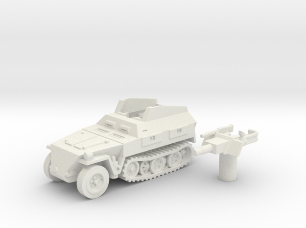 Sd.Kfz 250 vehicle (Germany) 1/100 in White Strong & Flexible