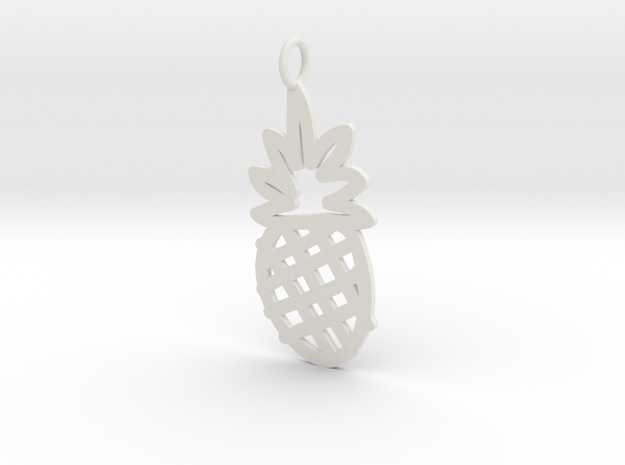Large Pineapple Charm! in White Strong & Flexible