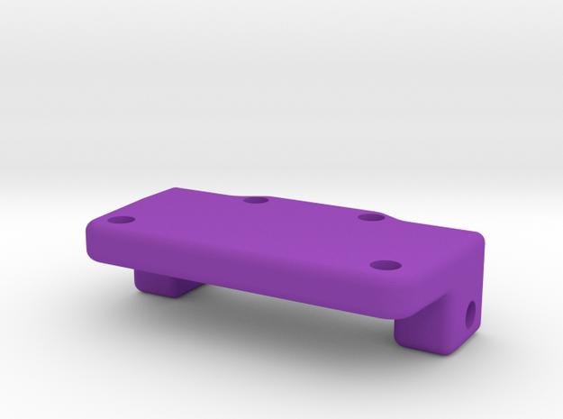 Rear Axle Plate2 in Purple Processed Versatile Plastic