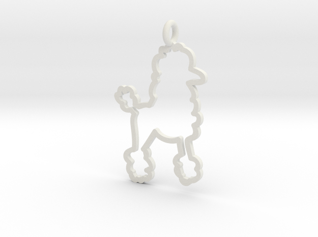 Poodle Charm! in White Strong & Flexible