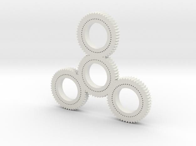 Gearspinner in White Natural Versatile Plastic