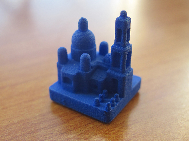 Base Catan Blue Piece Set 3d printed City token