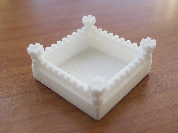 Catan Pieces Knights - White 3d printed Wall token