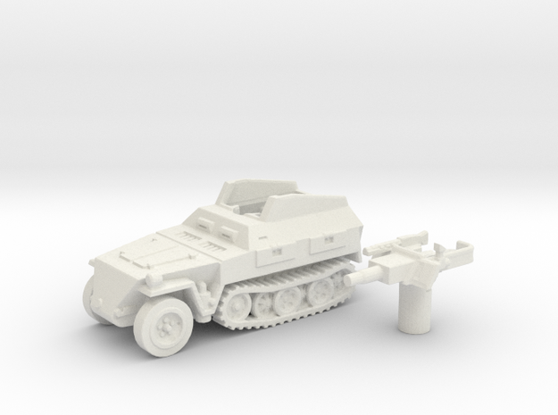 Sd.Kfz 250 vehicle (Germany) 1/144 in White Natural Versatile Plastic