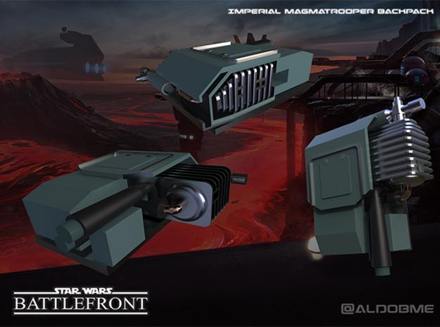 Star Wars Battlefront Backpack Magmatrooper  in Black Strong & Flexible