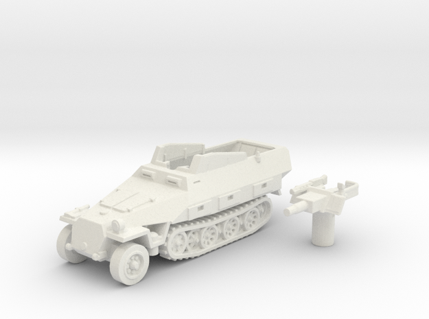 Sd.Kfz 251 vehicle (Germany) 1/144 in White Natural Versatile Plastic