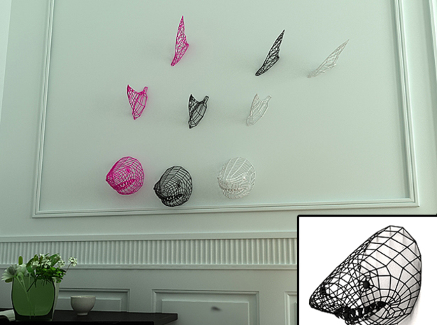 Shark swimming on your Wall :) in White Natural Versatile Plastic