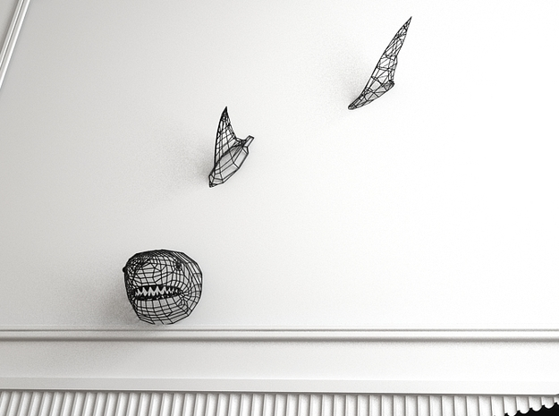 Shark swimming on your Wall :) 3d printed Shark Fengshui
