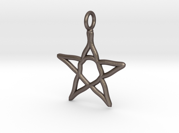 Warped star necklace in Stainless Steel