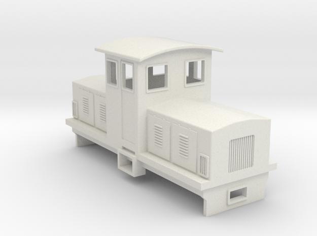 HOn30 Electric Centrecab Locomotive (Jennifer 2) in White Natural Versatile Plastic