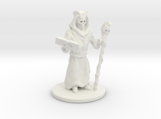 Lich Sorcerer Mini 28mm in White Strong & Flexible