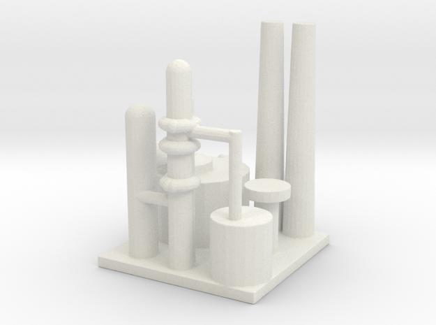 Oil Refinery in White Natural Versatile Plastic