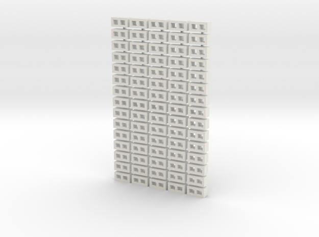 Cinder Block Loose 75 Pack 1-64 Scale in White Natural Versatile Plastic