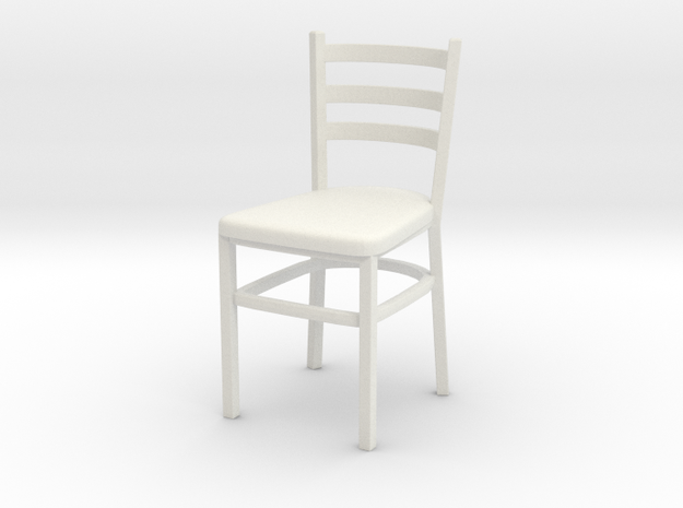 Chair 07. 1:24 Scale in White Natural Versatile Plastic