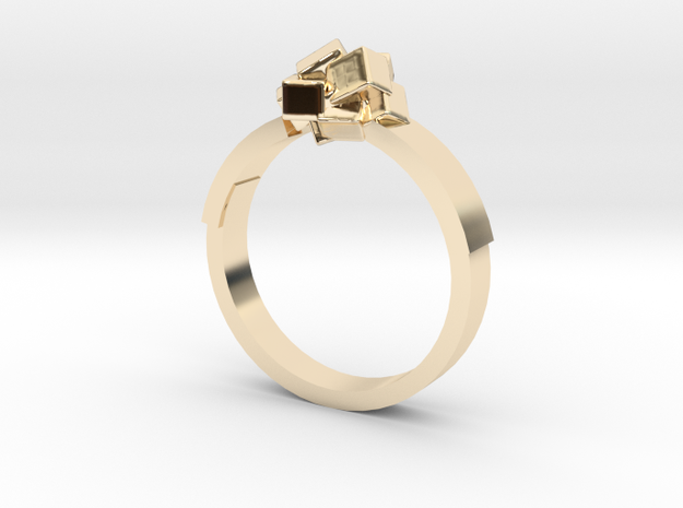 Ring Cubes in 14k Gold Plated: 9 / 59