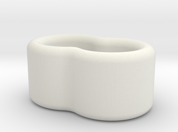 2 Wire Holder 3.5mm in White Natural Versatile Plastic