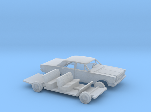 1/160 1966 Ford Galaxie 500 Sedan Kit in Smooth Fine Detail Plastic