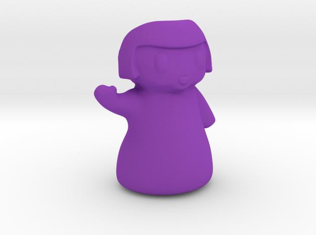 Chibi Planter for Plastic 4 inches tall in Purple Processed Versatile Plastic