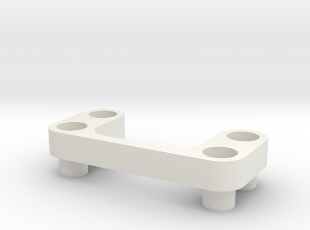 AE B6 Wing Mount Spacer 4mm in White Natural Versatile Plastic