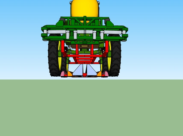JD Field Sprayer - Folded Boom in Smooth Fine Detail Plastic