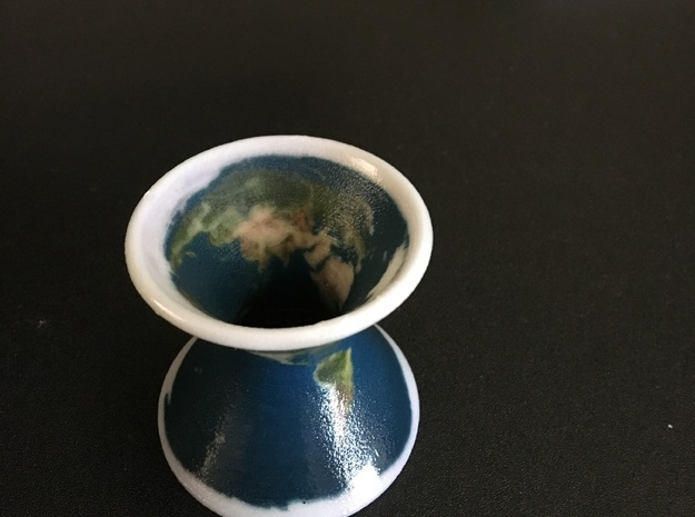 Earth on a Hyperboloid in Coated Full Color Sandstone