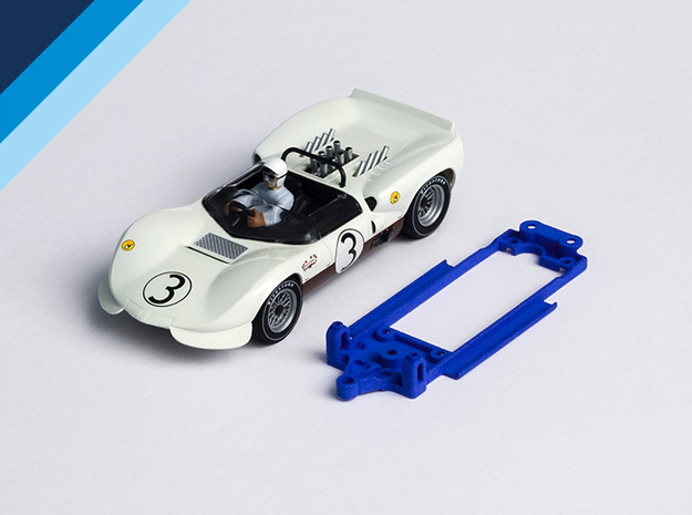 1/32 MRRC Chaparral 2C Chassis for Slot.it pod in White Natural Versatile Plastic