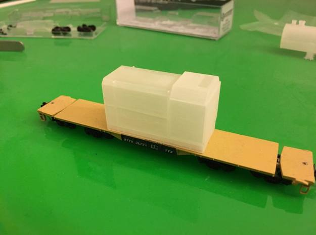 Flatcar Load - Oil Drawworks - Nscale in Smooth Fine Detail Plastic
