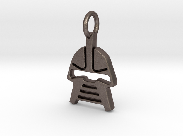 Cylon Charm in Polished Bronzed Silver Steel