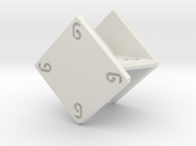 Planar d6 in White Strong & Flexible