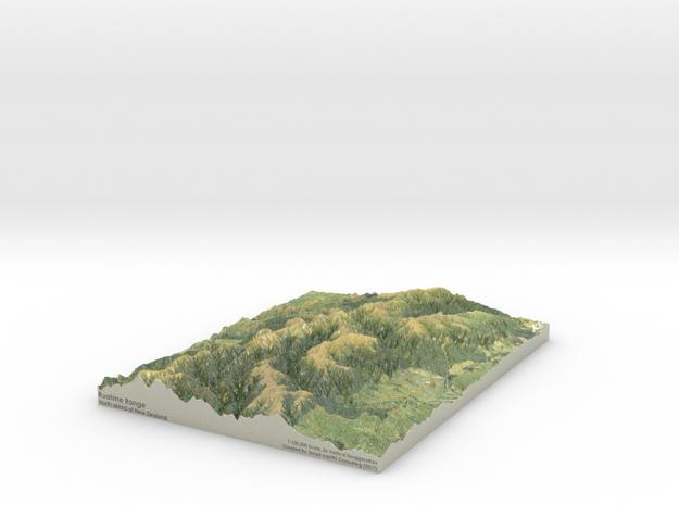 Ruahine Range Map: 8.5x11 (100k)