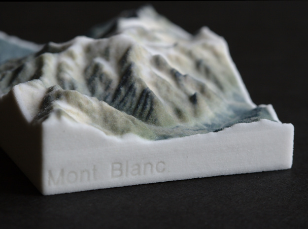Mont Blanc, France/Italy, 1:250000 Explorer in Full Color Sandstone