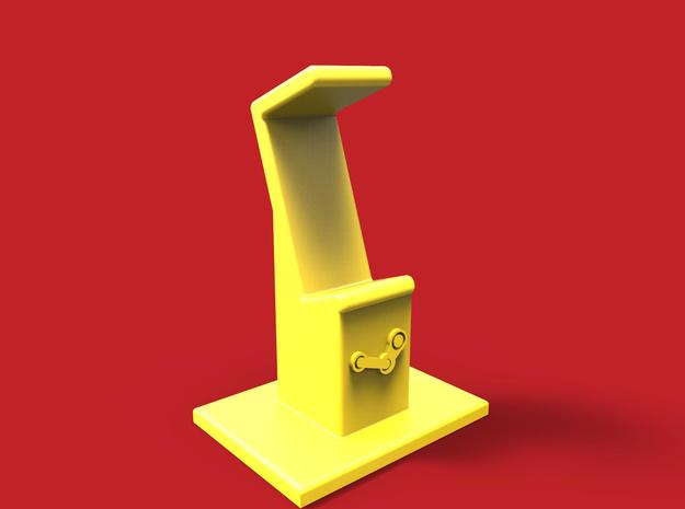 Steam controller stand in Yellow Processed Versatile Plastic
