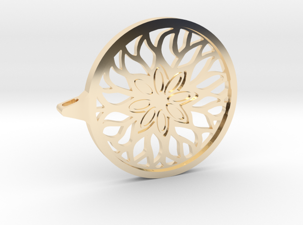 Arabesk pendant in 14K Gold: 1:10