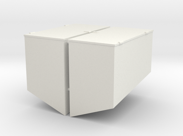 1/16 M31 Rear Stowage Boxes  in White Natural Versatile Plastic
