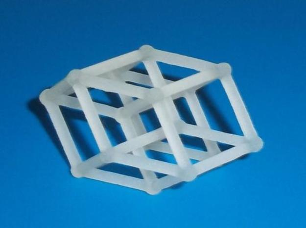 8-cell (Hypercube) 3d printed Transparent detail print