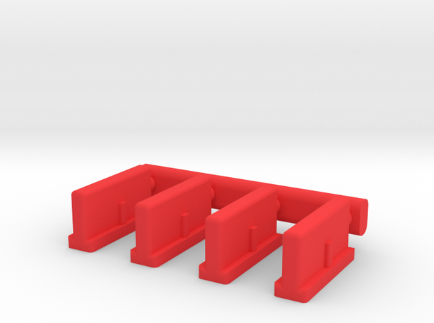 Tri-ang Big Big Train 4 TrackInserts Combined in Red Processed Versatile Plastic