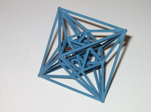 24-cell 3d printed The 24-cell in blue jeans