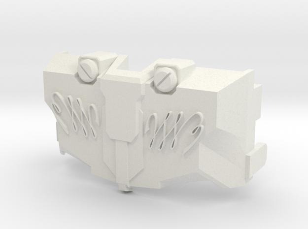 MTMTE Megatron Chest - No Faction Symbol in White Natural Versatile Plastic