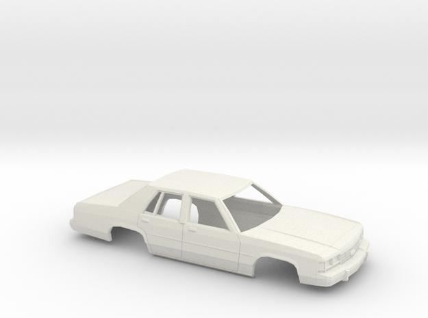 16 cm 1989 Ford Crown Victoria in White Natural Versatile Plastic